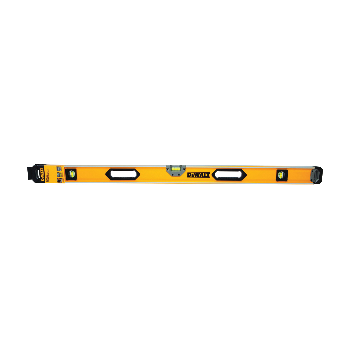 Picture of DeWALT DWHT43248 Box Beam Level, 48 in L, 3 -Vial, 2 -Hang Hole, Non-Magnetic, Aluminum