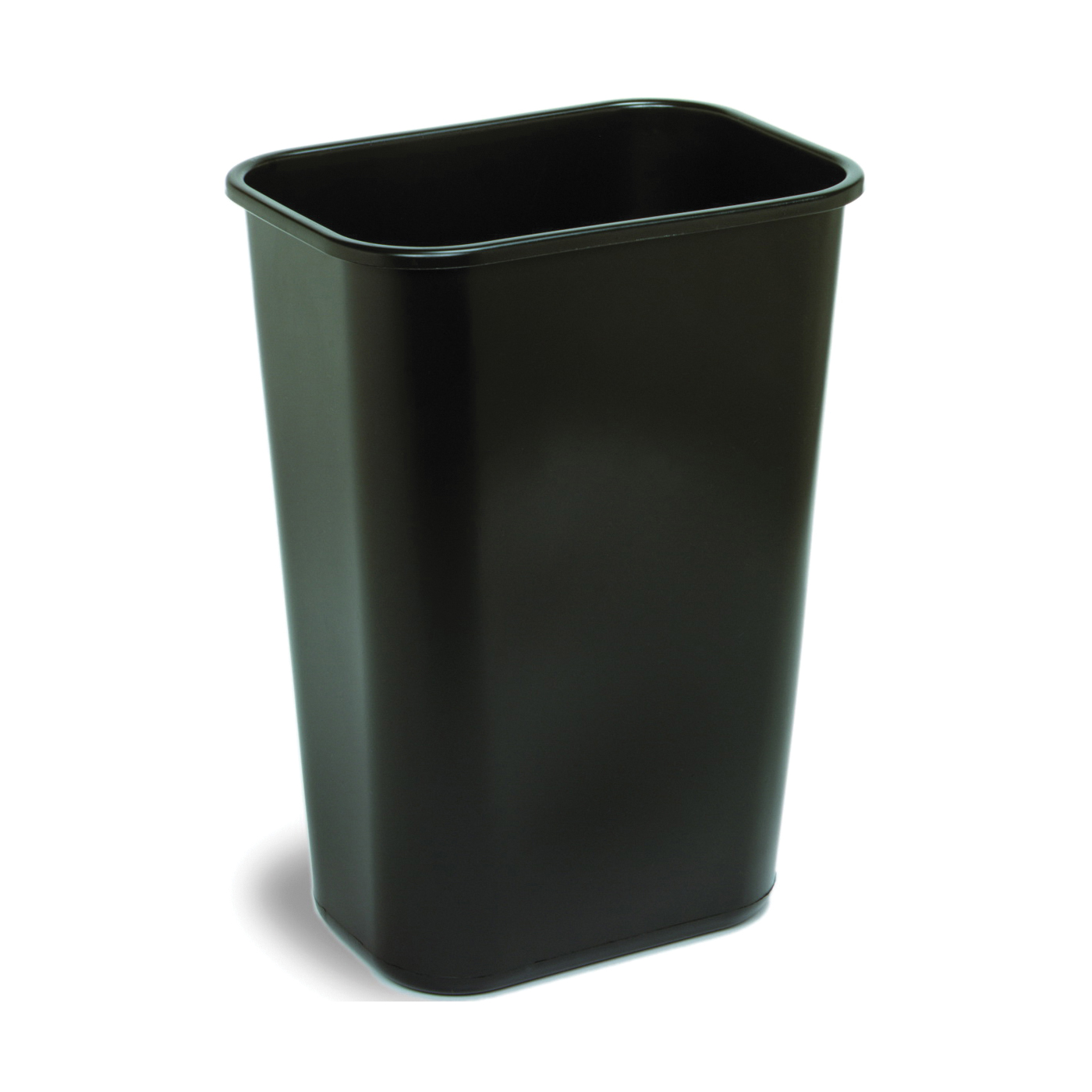 Picture of CONTINENTAL COMMERCIAL 4114BK Waste Basket, 41.125 qt Capacity, Rectangular, Plastic, Black, 11 in W, 15-1/4 in D