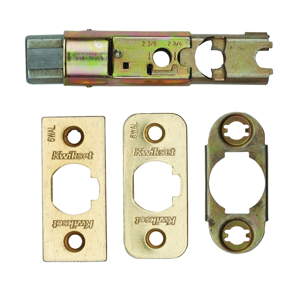 Picture of Kwikset 81826-001 Spring Latch Core, Steel, Polished Brass