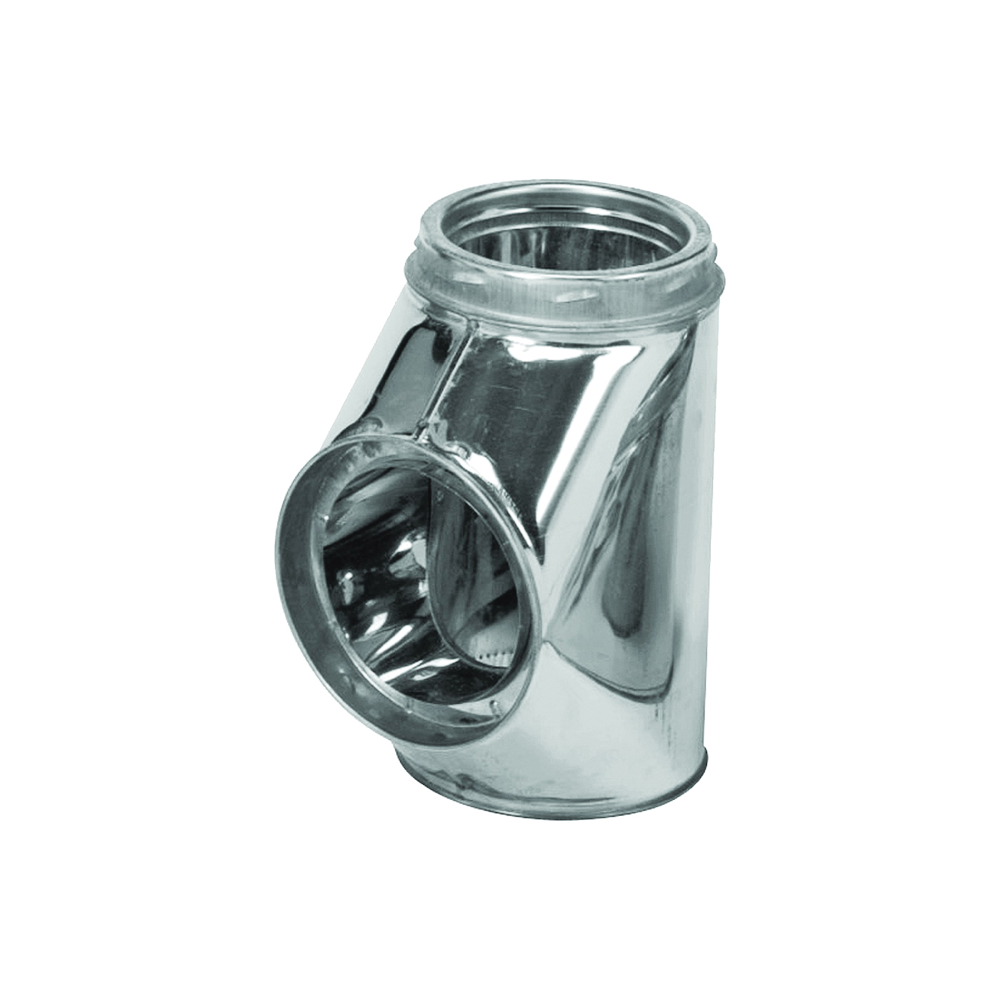 Picture of SELKIRK 206100 Insulated Chimney Tee with Cap, 6-1/4 in Connection, Stainless Steel