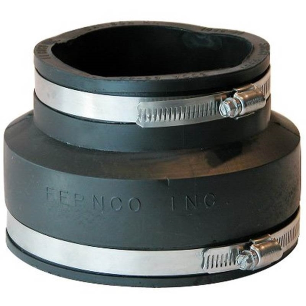 Picture of FERNCO P1056-54 Flexible Pipe Coupling, 5 x 4 in, PVC, 4.3 psi Pressure