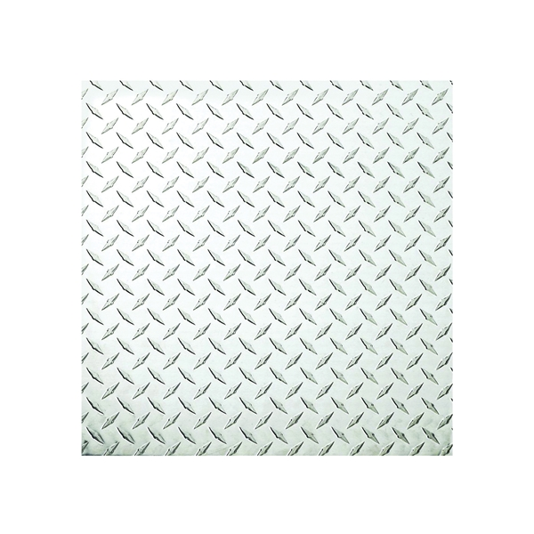 Picture of Stanley Hardware 4220BC Series 316356 Tread Plate Sheet, 24 in W, 24 in L, Aluminum, Polished
