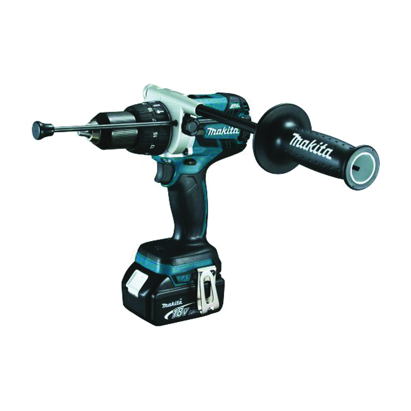 Picture of Makita XPH07MB/XPH07M Hammer Driver-Drill Kit, Kit, 18 V Battery, 4 Ah, 1/2 in Chuck, Keyless Chuck