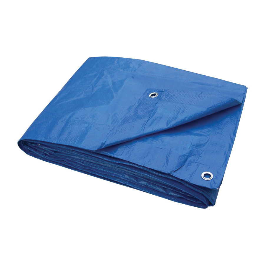 Picture of ProSource T0608BB70 Tarpaulin, 8 ft L, 6 ft W, 3.5 mil Thick, Plastic, Blue
