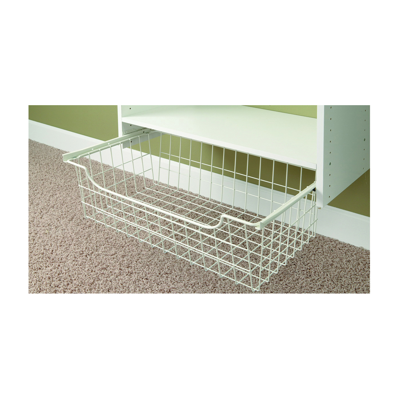 Picture of Easy Track 1308 Wire Basket, 14 in OAL, 24 in OAW, Steel, Powder-Coated