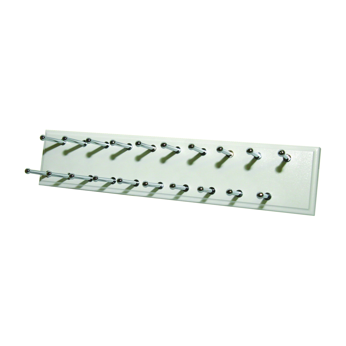 Picture of Easy Track RA1200 Tie Rack, 20-Hook, 14 in OAW, White