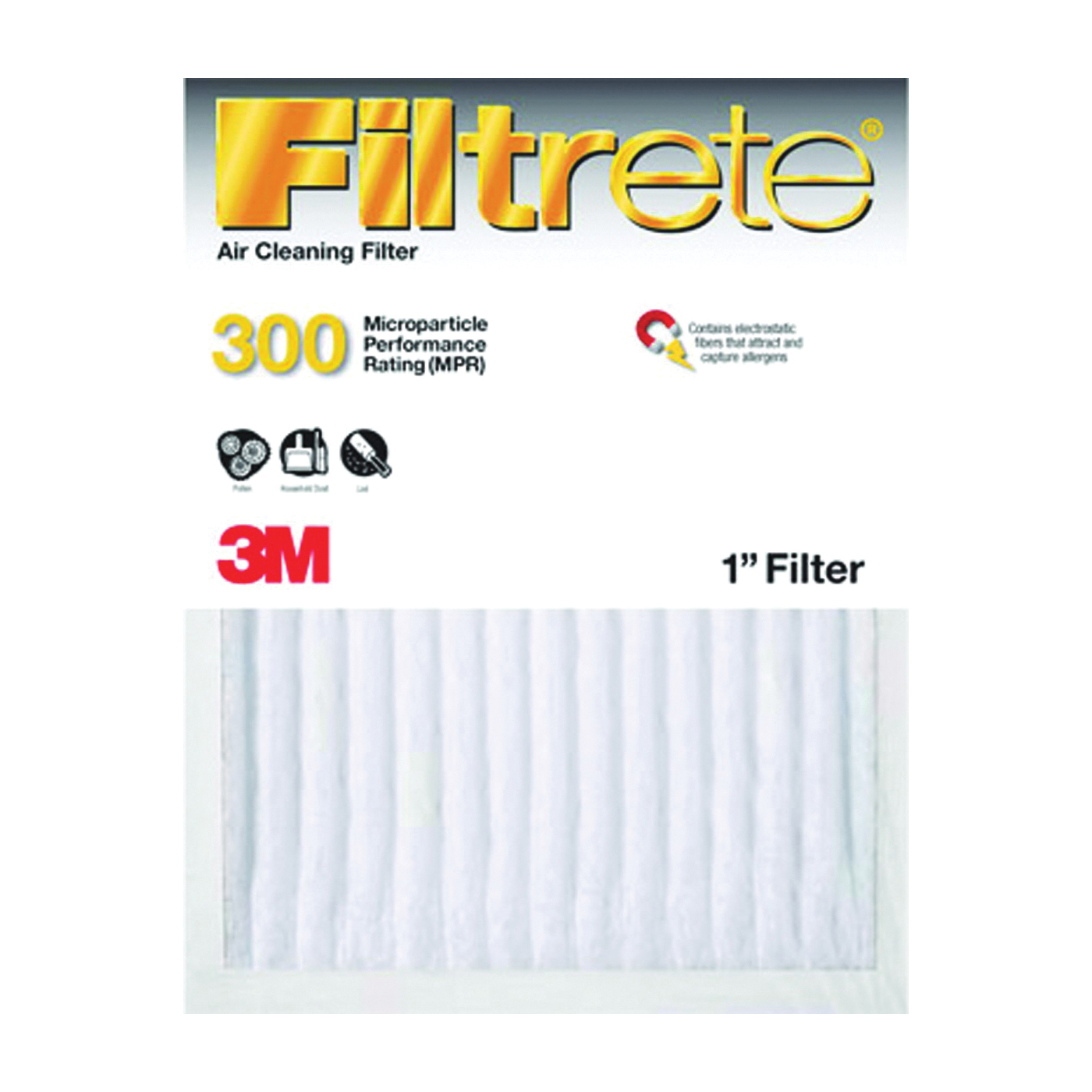 Picture of Filtrete 321DC-6 Dust Reduction Filter, 24 in L, 18 in W, 6 MERV, 90 % Filter Efficiency, Fiber Filter Media