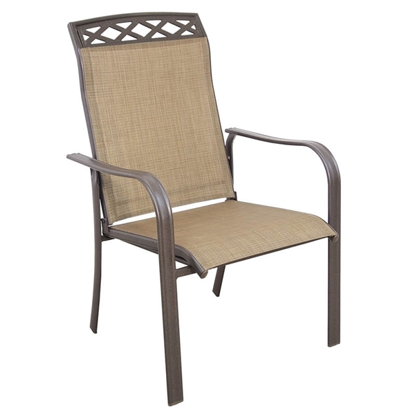 Picture of Seasonal Trends C4254SJ33SL04 Dining Sling Chair, 26.46 in W, 100.59 in H, Steel Frame, Brown Frame