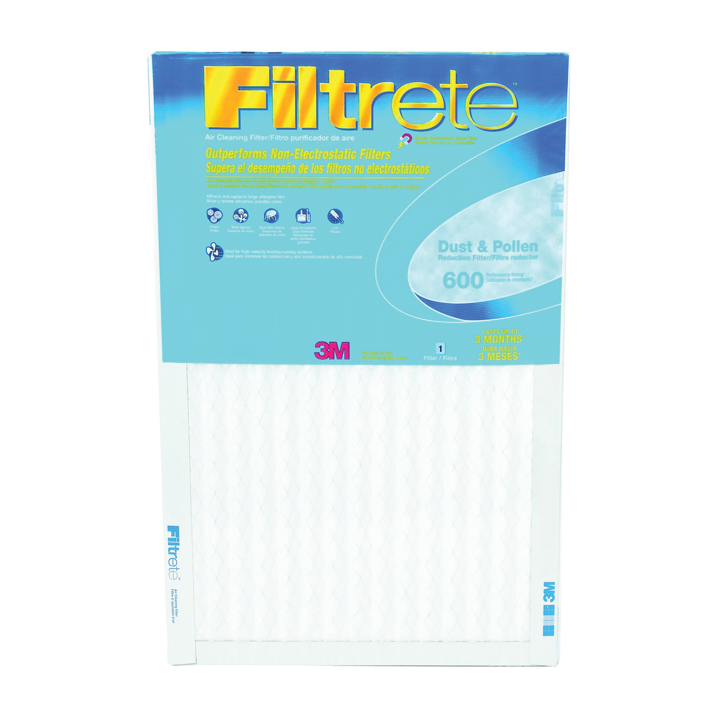 Picture of Filtrete 9869DC Electrostatic Air Filter, 20 in L, 12 in W