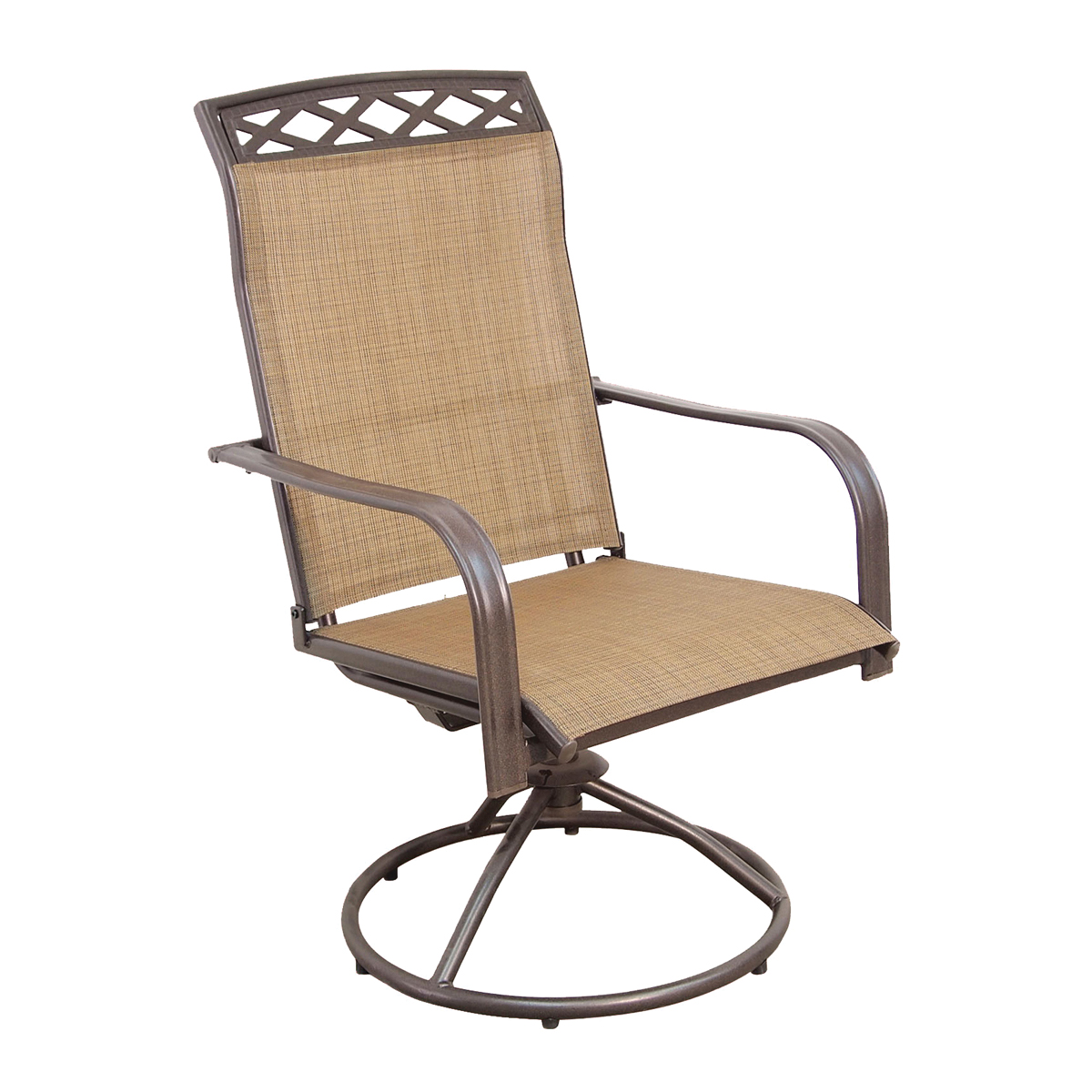 Picture of Seasonal Trends S4254SJ33SL04 Rocker Swivel Sling Chair, 24 in OAW, 28.74 in OAD, 41.14 in OAH, Steel