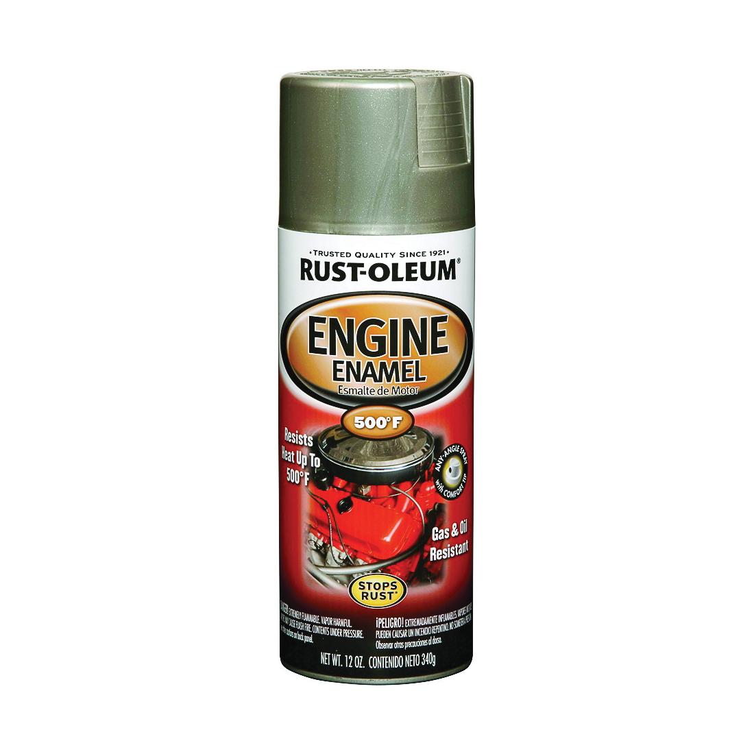 Picture of RUST-OLEUM AUTOMOTIVE 248949 Engine Enamel Spray Paint, Aluminum, 11 oz, Aerosol Can