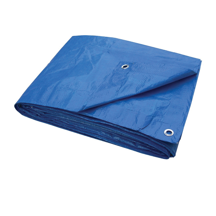 Picture of ProSource T1012BB70 Tarpaulin, 12 ft L, 10 ft W, 3.5 mil Thick, Polyethylene, Blue
