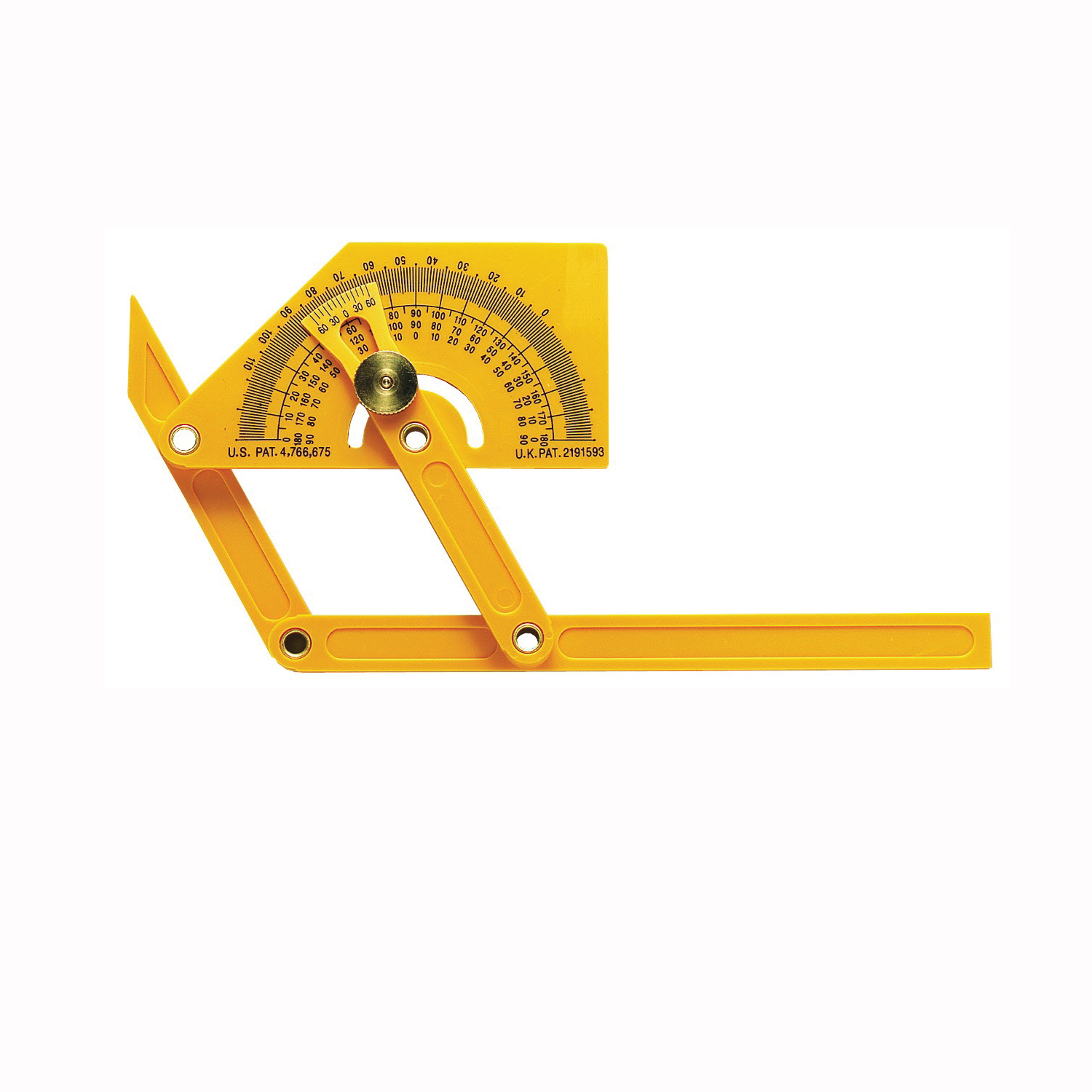 Picture of GENERAL 29 Angle Protractor with Locknut, 0 to 165 deg, Plastic