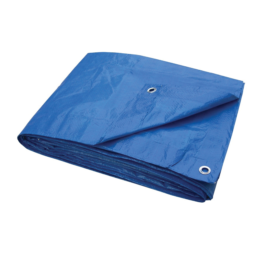 Picture of ProSource T1620BB70 Tarpaulin, 20 ft L, 16 ft W, 3.5 mil Thick, Polyethylene, Blue