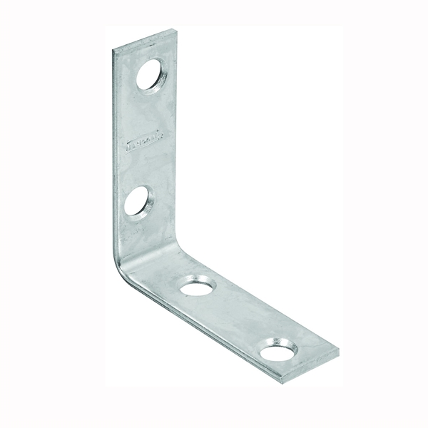 Picture of National Hardware 115BC Series N266-361 Corner Brace, 2 in L, 5/8 in W, Steel, Zinc, 0.08 Thick Material