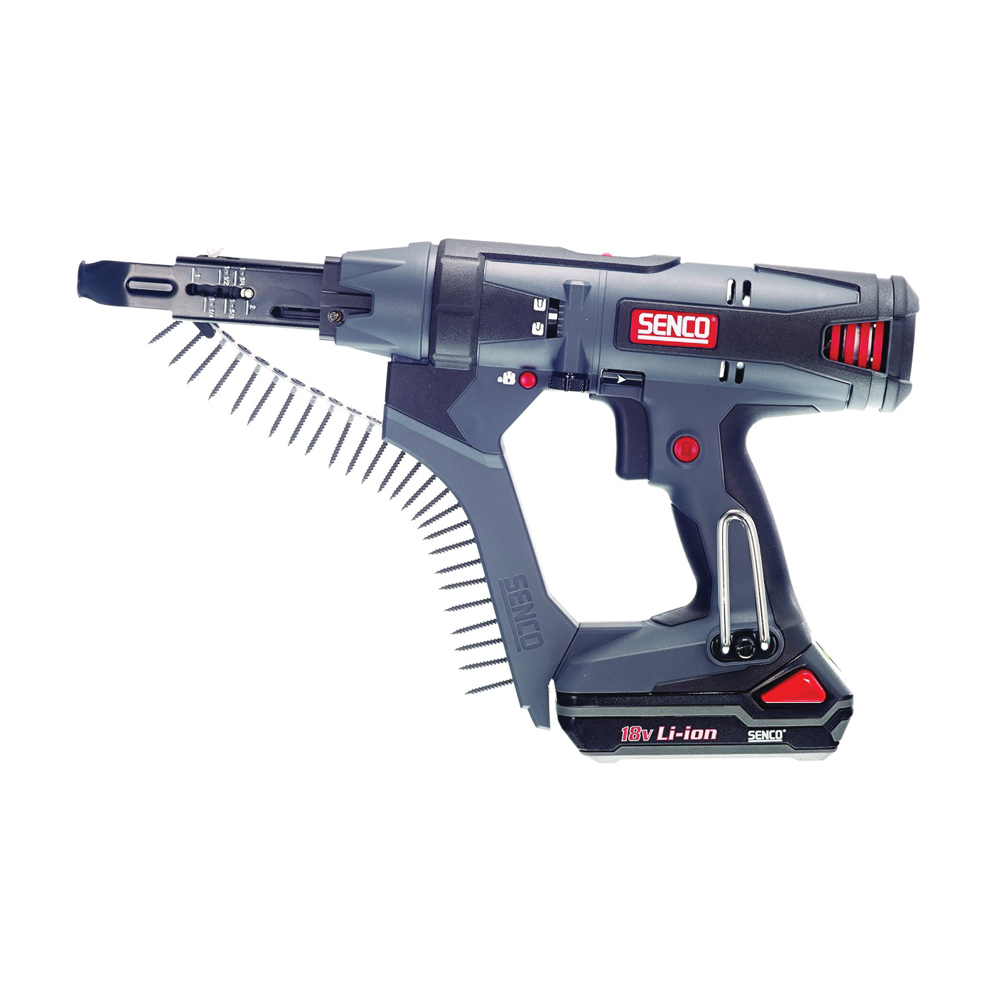 Picture of SENCO 7W0001N Collated Screwdriver, Kit, 18 V Battery, 1.5 Ah, Keyless Chuck, 5000 rpm Speed, 60 in-lb
