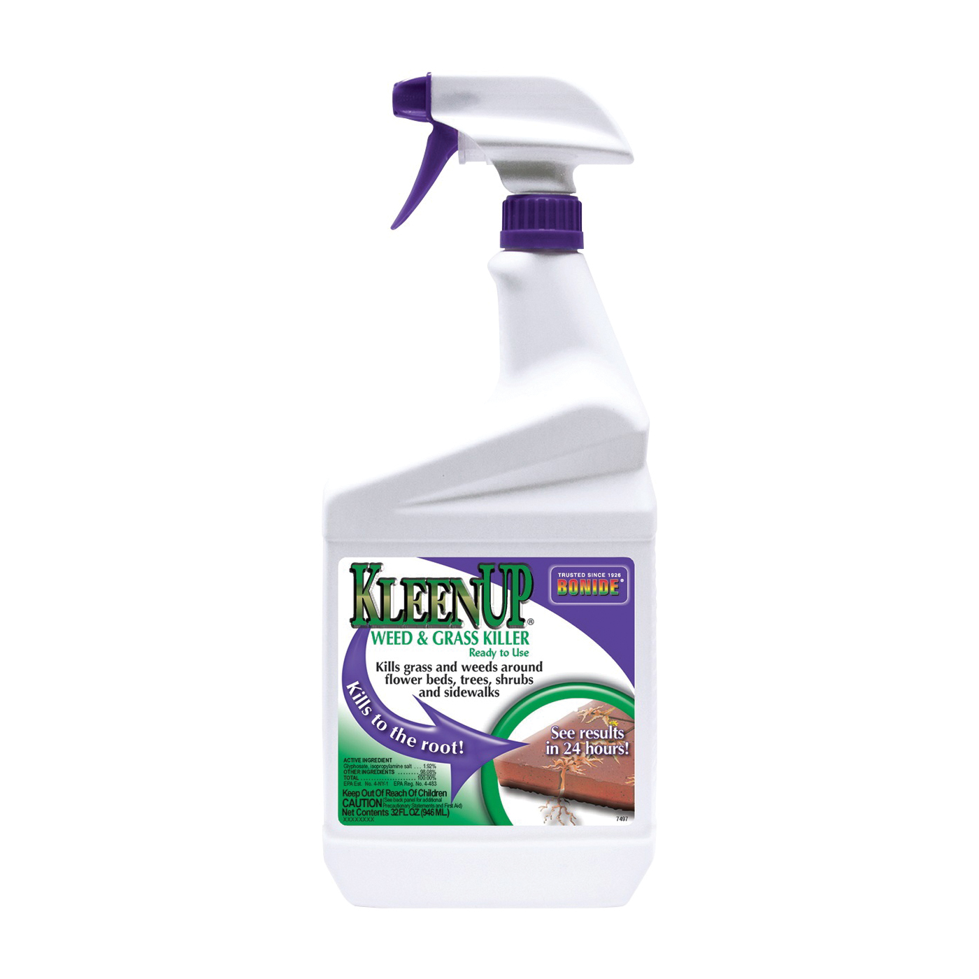 Picture of Bonide 7497 Weed and Grass Killer, Liquid, Off-White/Yellow, 1 qt Package, Bottle
