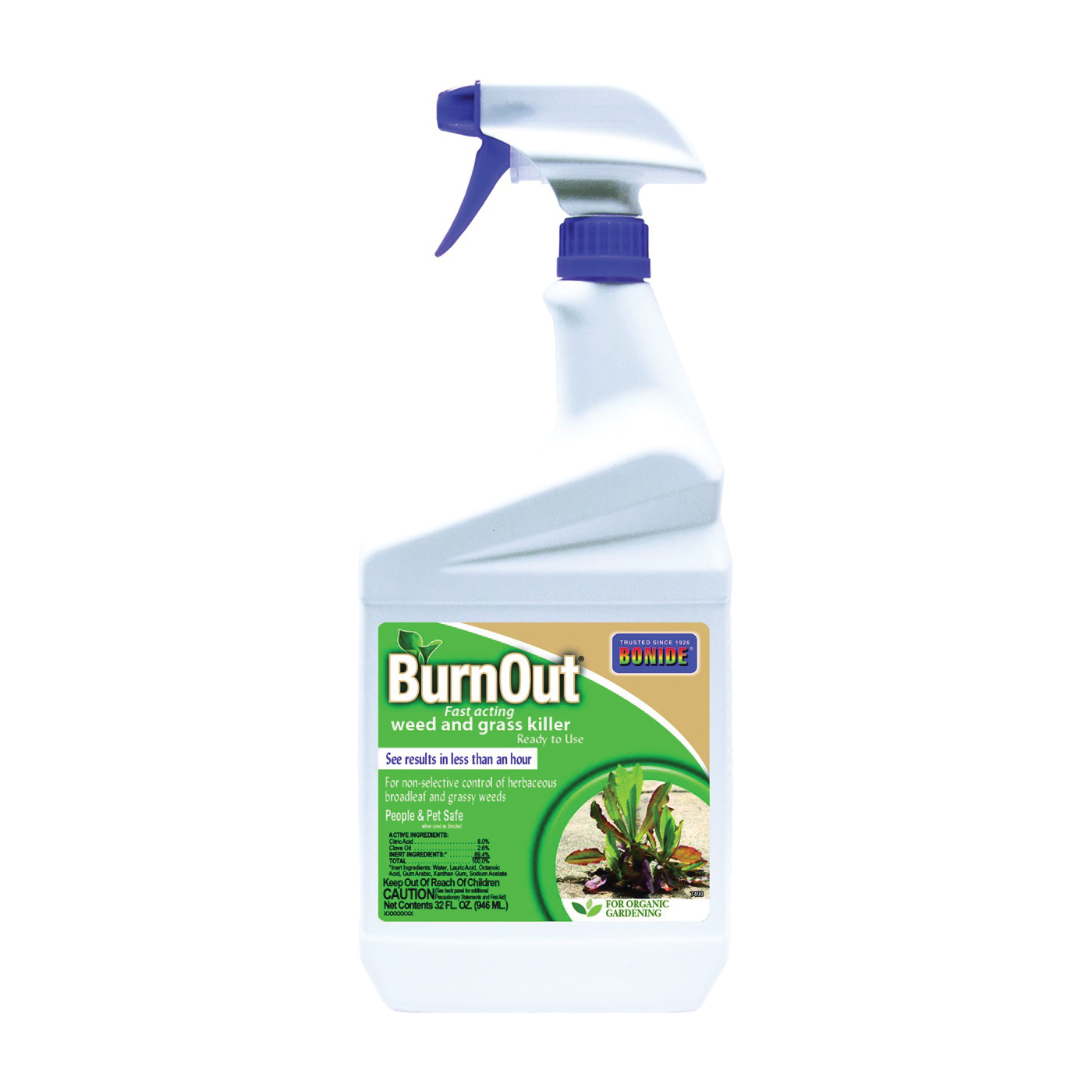 Picture of Bonide 7490 Weed and Grass Killer, Liquid, Light Yellow/White, 1 qt Package, Bottle