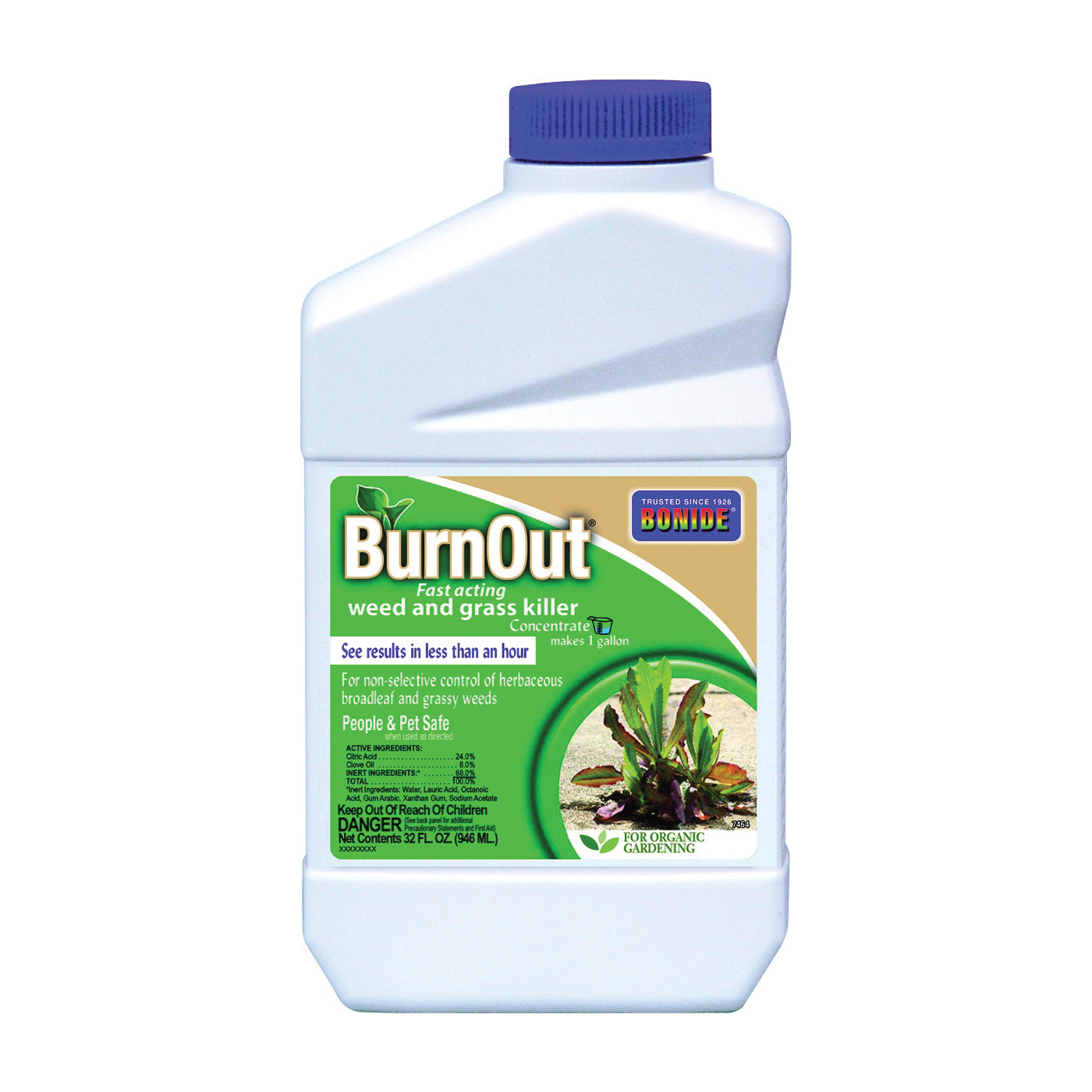 Picture of Bonide 7464 Weed and Grass Killer, Liquid, Light Yellow/White, 6 qt Package