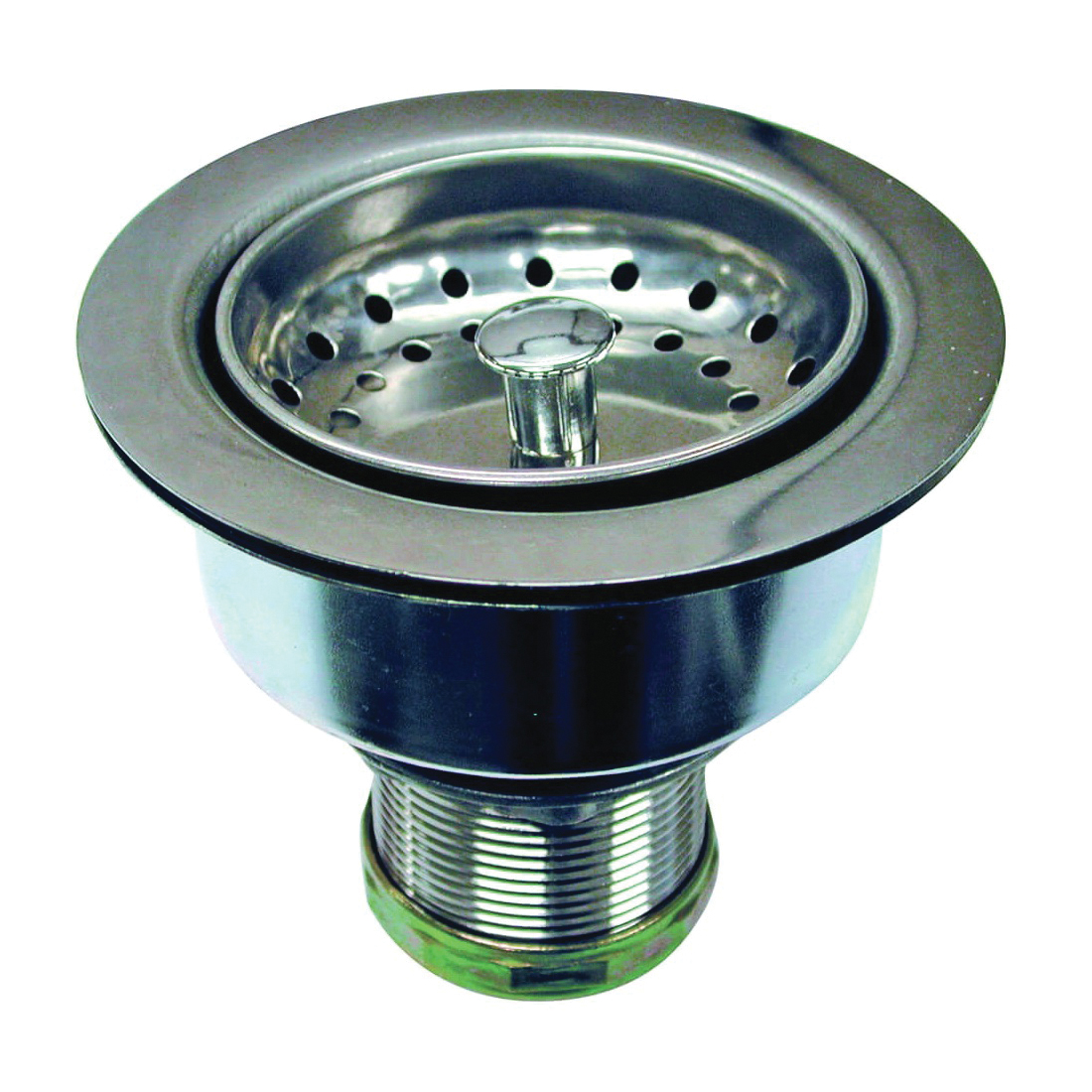 Picture of Danco 86803 Basket Strainer Assembly, 3-1/2 in Dia, Stainless Steel, Chrome, For: 3-1/4 x 4 in Opening Sink