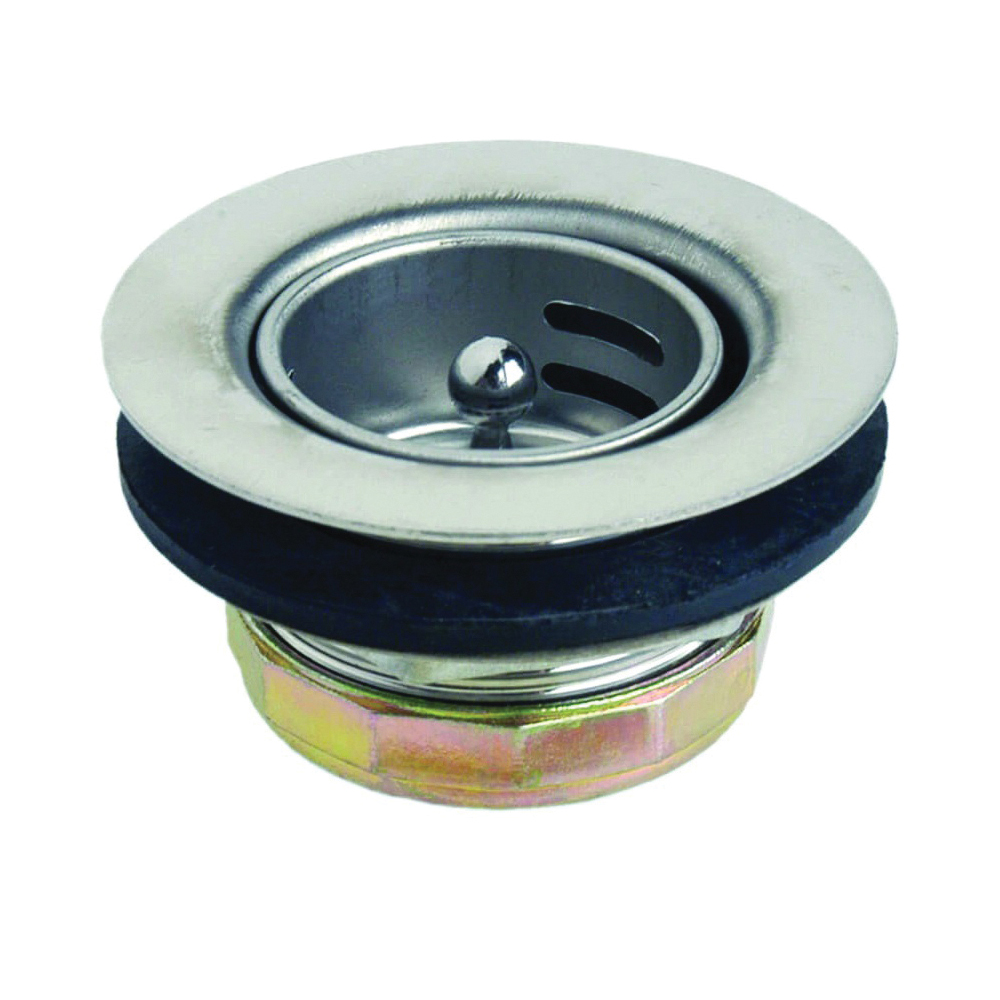 Picture of Danco 86805 Basket Strainer Assembly, 2-13/16 in Dia, Stainless Steel, For: 2-13/16 x 1-3/4 in Small Opening Sink
