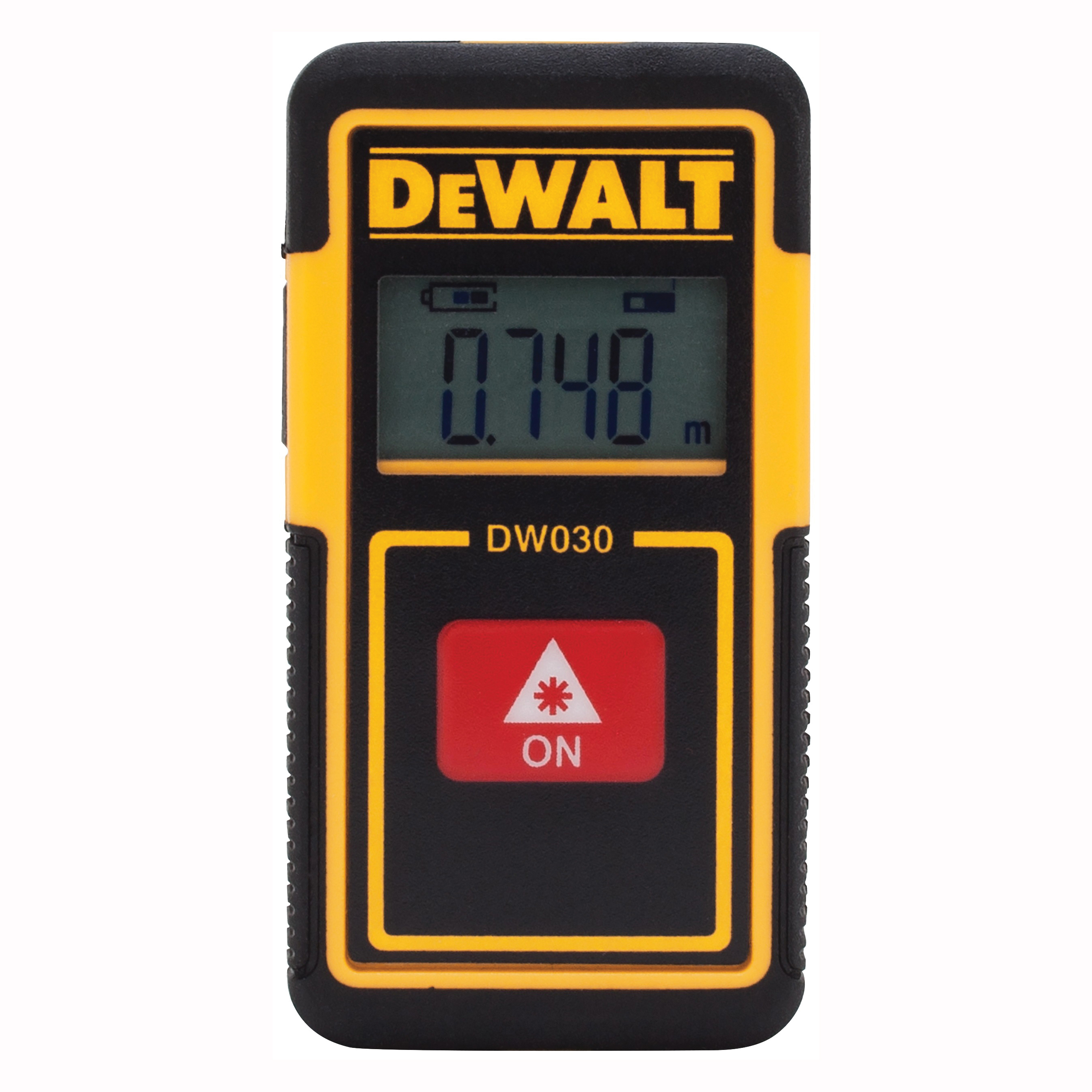 Picture of DeWALT DW030PL Laser Distance Measurer, 30 ft, LCD Display