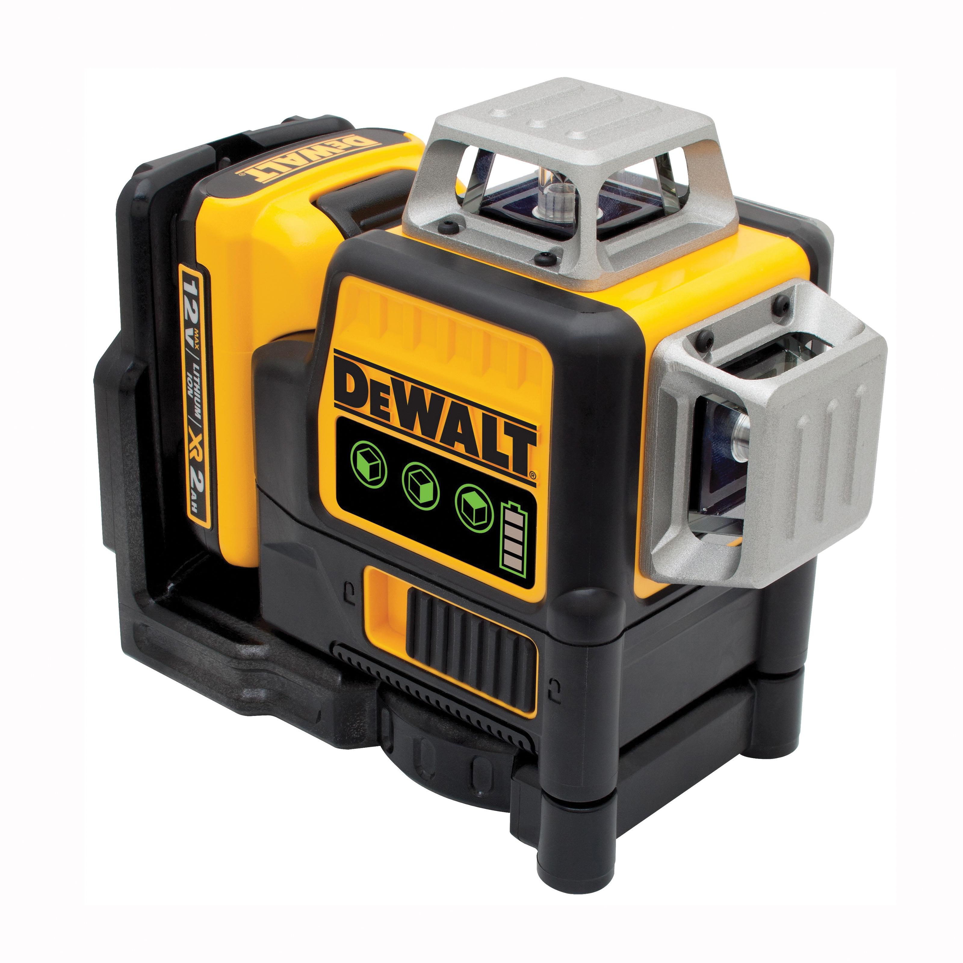 Picture of DeWALT DW089LG-QU Laser Level, 165 ft, +/-0.125 in Accuracy, Green Laser