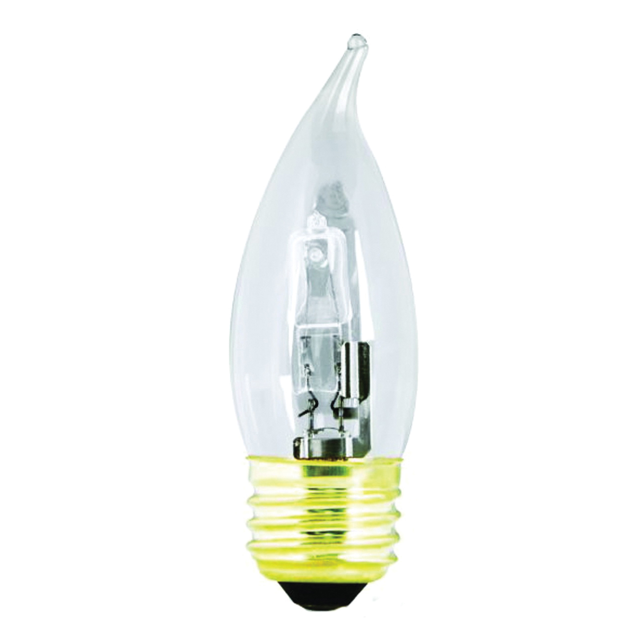 Picture of Feit Electric BPQ40EFC/2 Halogen Lamp, 40 W, Medium E26 Lamp Base, Flame Tip Lamp, 600 Lumens, 3000 K Color Temp