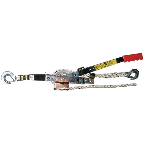 Picture of Maasdam A-20 Rope Puller, 0.75 ton Lifting, 1500 lb Pull Force, 8 in Mini Between Hooks, 1/2 in Dia Rope/Cable