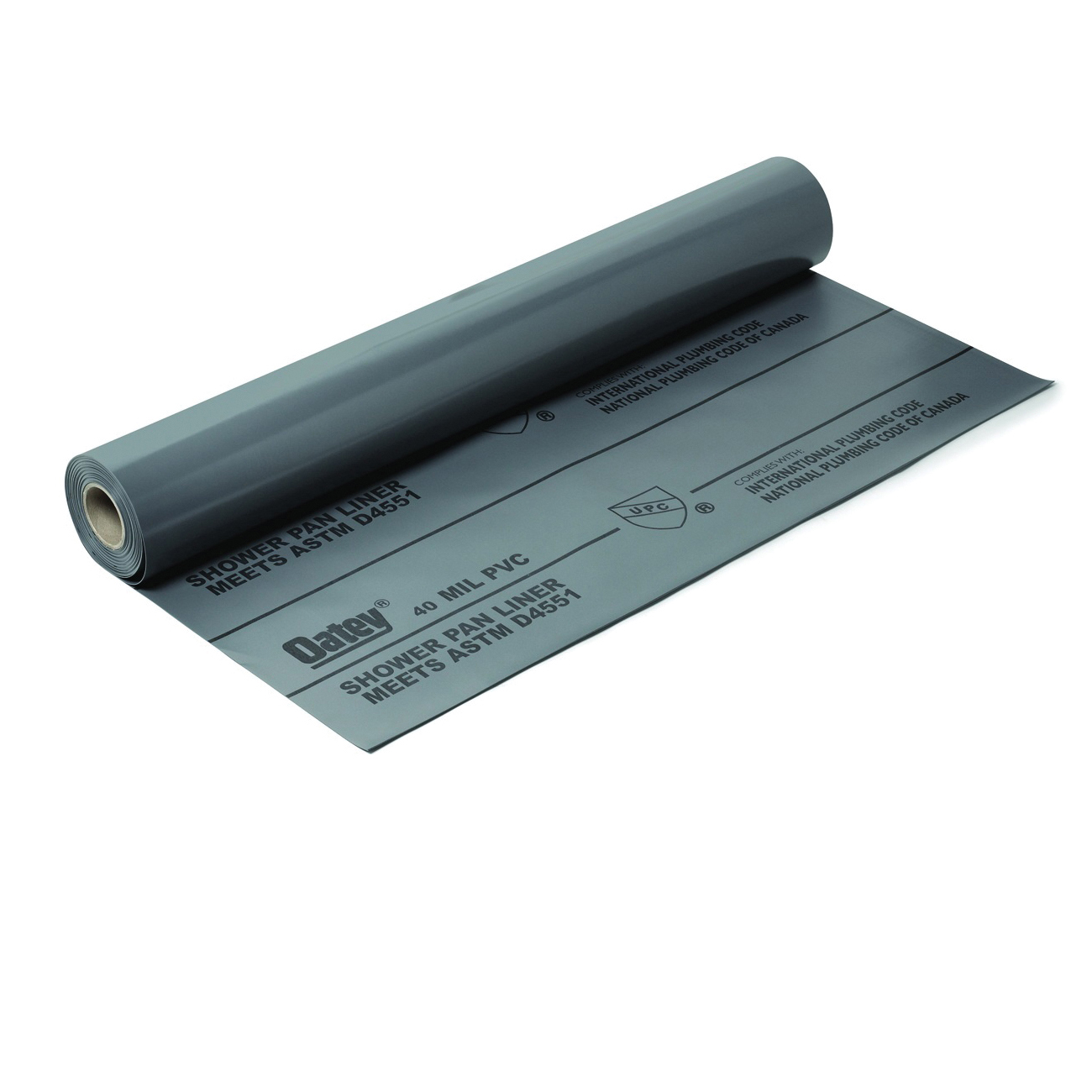 Picture of Oatey 41594 Shower Pan Liner, 40 ft L, 5 ft W, PVC, Gray