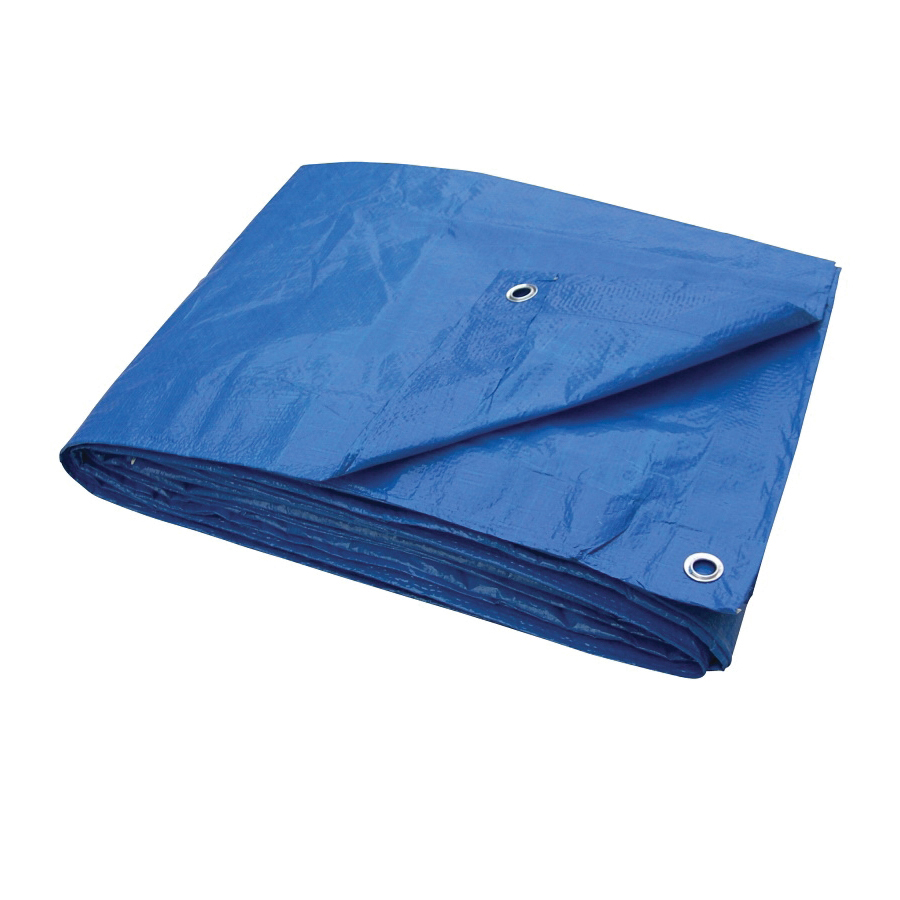Picture of ProSource T2030BB70 Tarpaulin, 30 ft L, 20 ft W, 3.5 mil Thick, Polyethylene, Blue