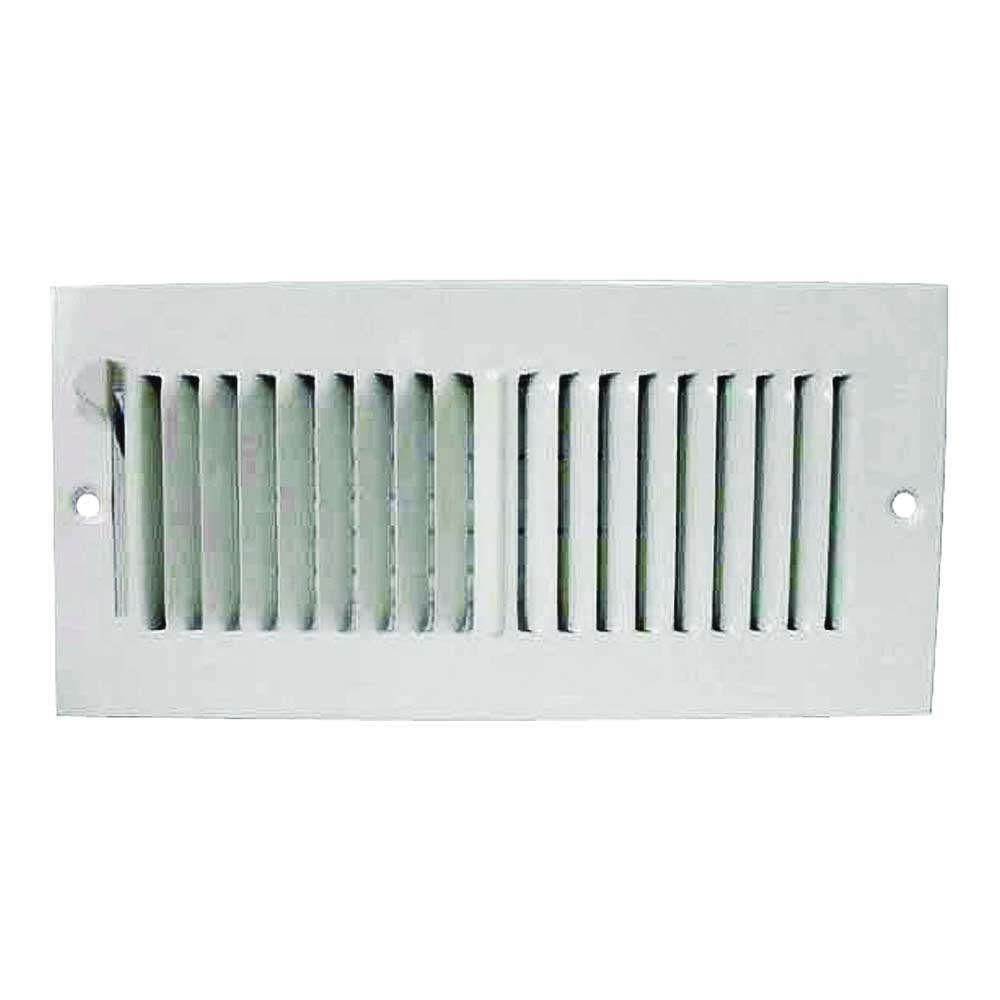 Picture of ProSource SW02-10X4 Sidewall Register, 2-Way, Steel, White