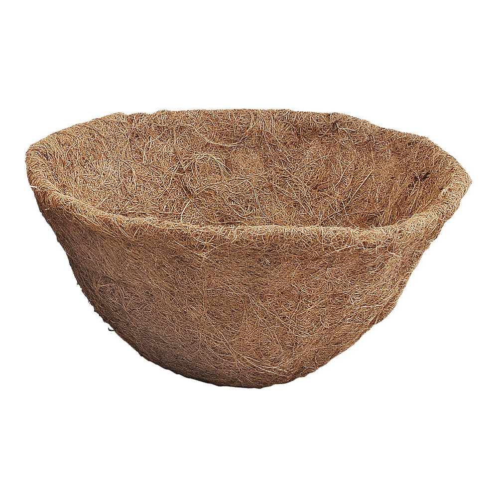Picture of Landscapers Select T51451A-3L Planter Liner, 12 in Dia, 6.5 H, Round, Natural Coconut, Brown