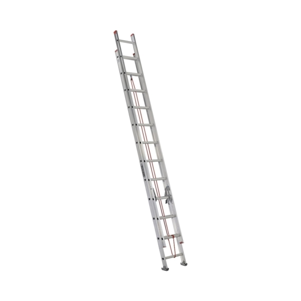 Picture of Louisville L-2324-24 Extension Ladder, 286 in H Reach, 200 lb, 1-1/2 in D Step, Aluminum