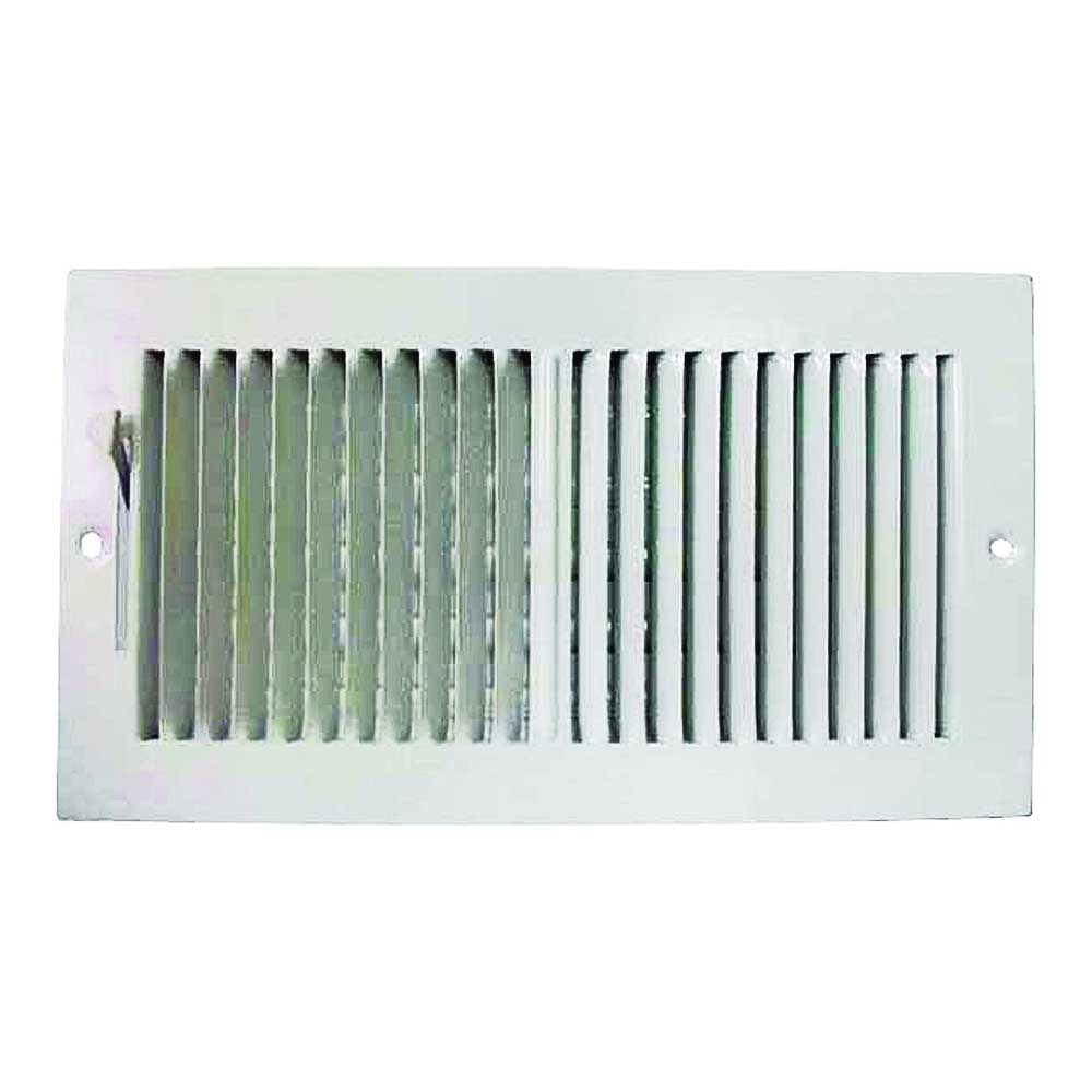 Picture of ProSource SW02-12X6 Sidewall Register, 2-Way, Steel, White