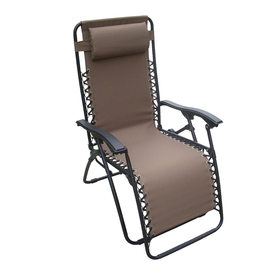 Picture of Seasonal Trends F5325O-1BKOX64 Relaxer Chair, 25.6 in W, 63 in D, 43.3 in H, 250 lb Capacity, Oxford Fabric Seat