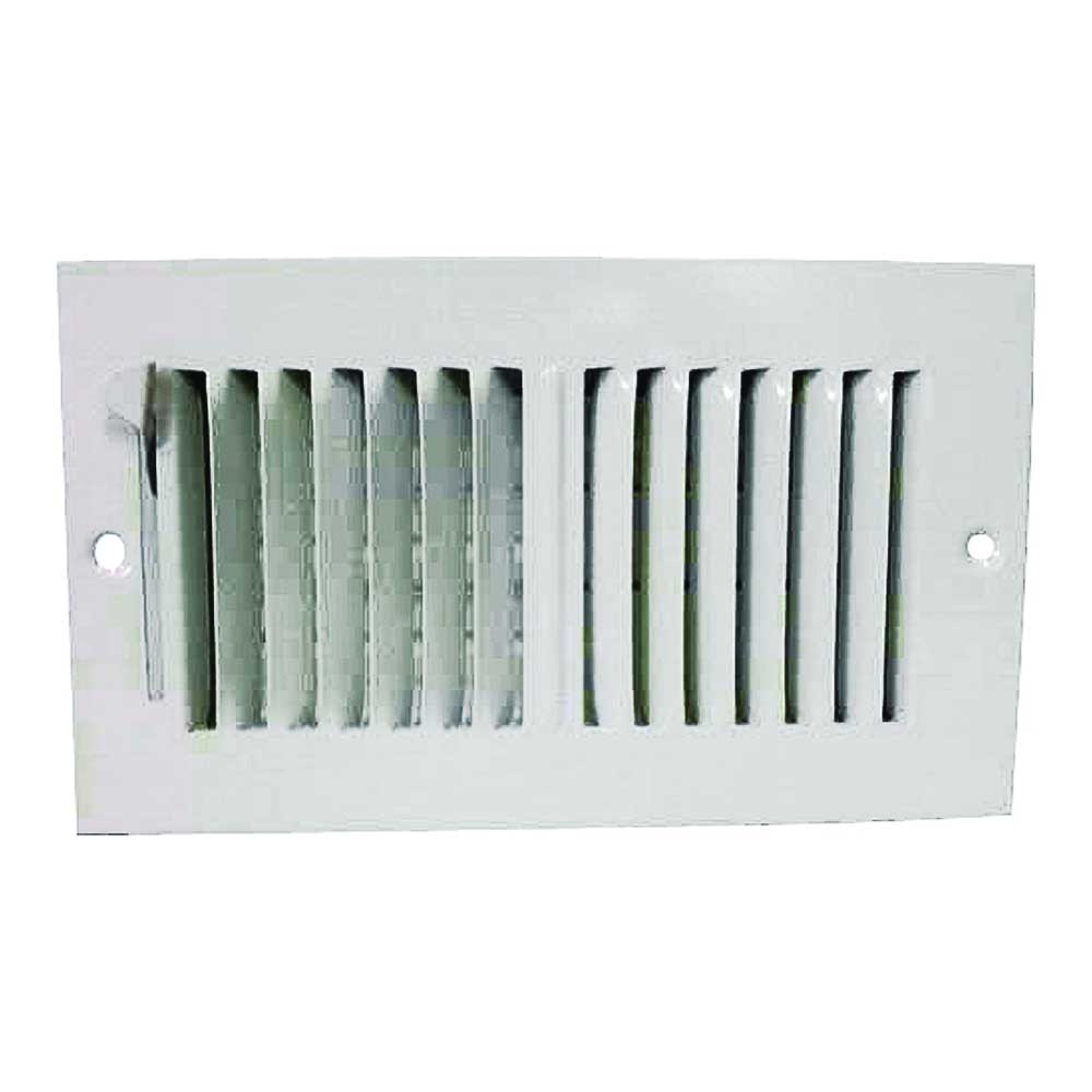 Picture of ProSource SW02-8X4 Sidewall Register, 2-Way, Steel, White