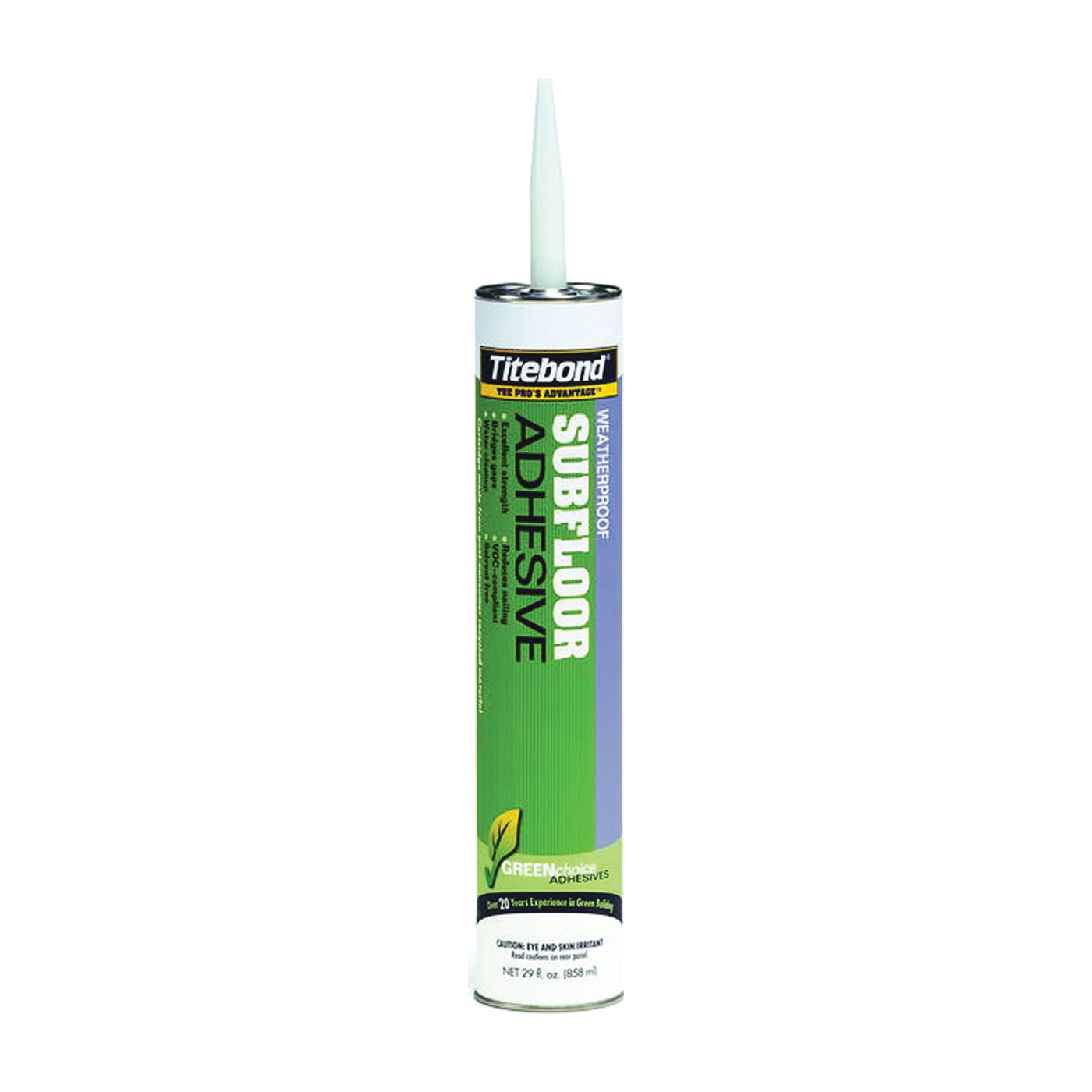Picture of Titebond 4122 Subfloor Adhesive, Off-White, 28 oz Package, Cartridge