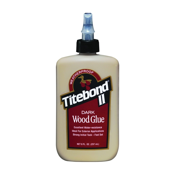 Picture of Titebond II 3703 Wood Glue, Brown, 8 oz Package, Bottle