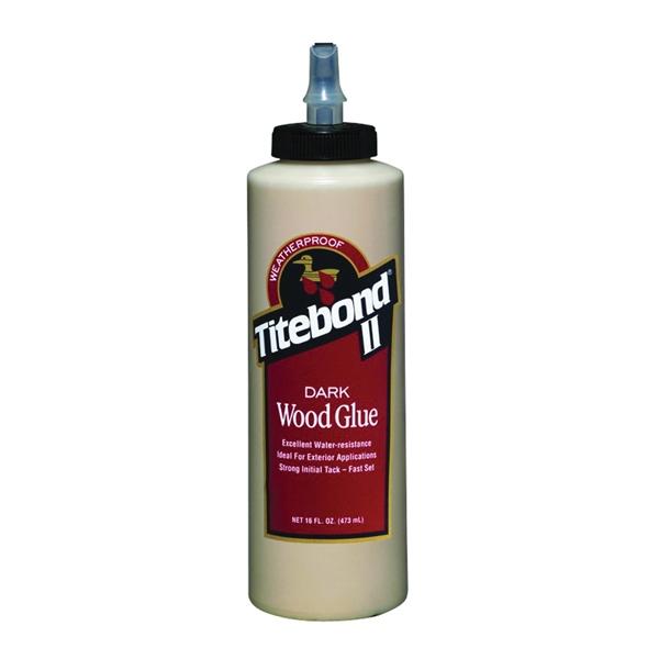 Picture of Titebond II 3704 Wood Glue, Brown, 16 oz Package, Bottle