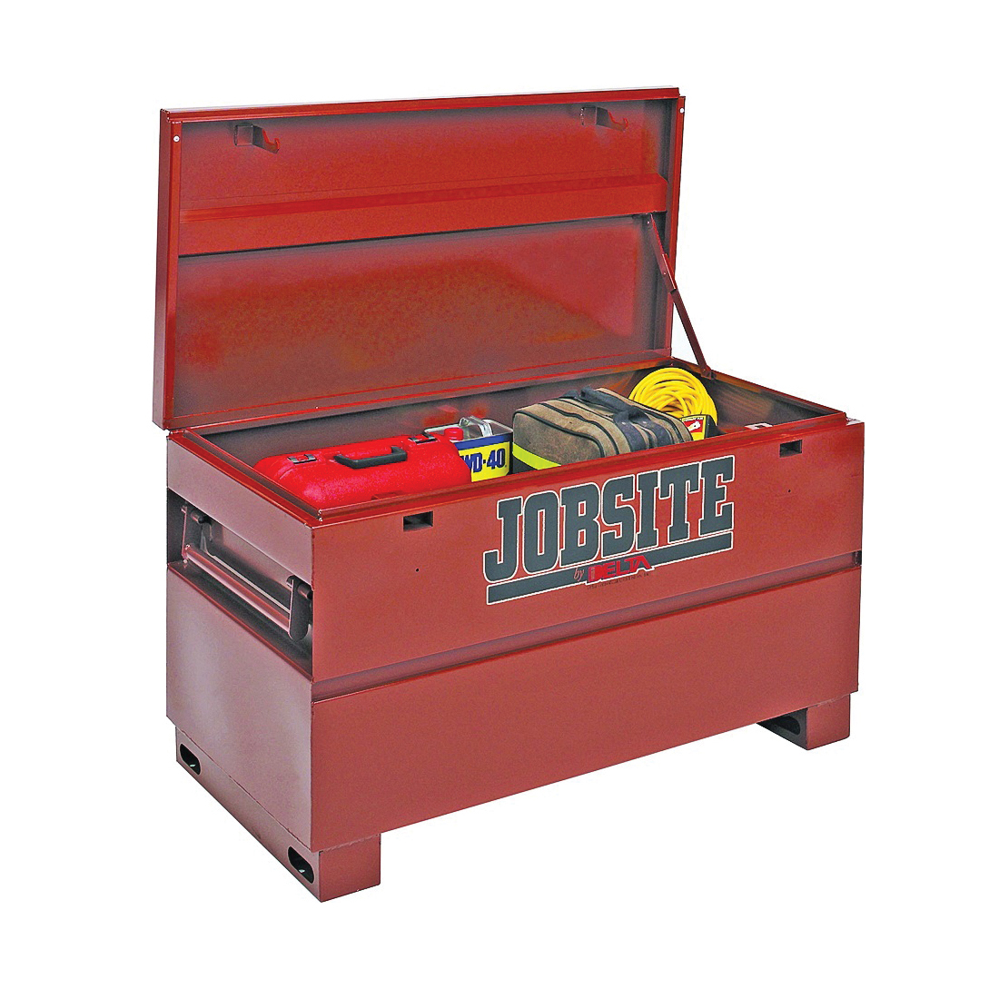 Picture of DELTA JOBSITE 638990 Heavy-Duty Contractor Chest, 19.3 cu-ft, 24 in OAW, 27-3/4 in OAH, 60 in OAD, Steel, Brown