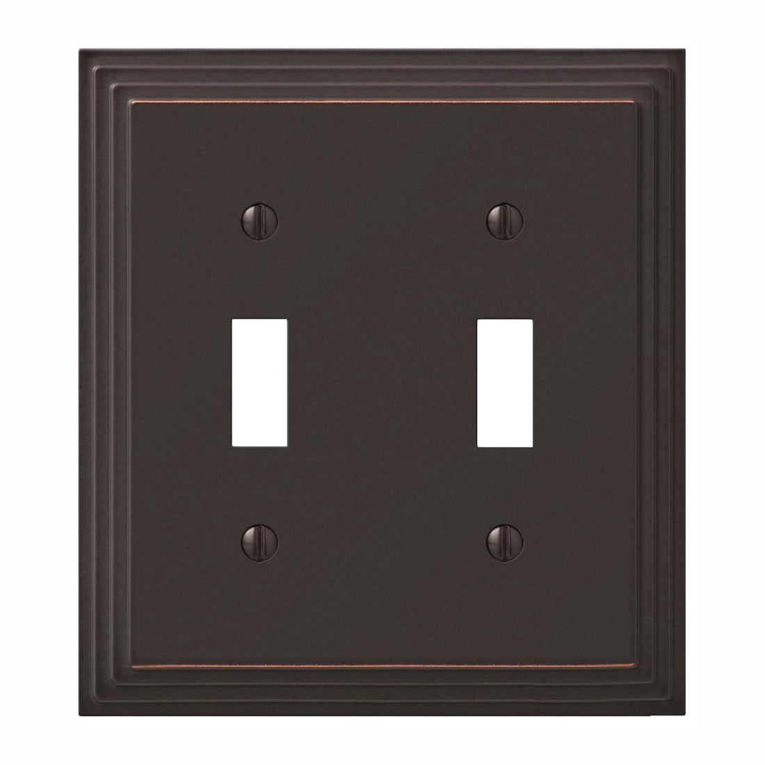 Picture of Amerelle 84TTVB Wallplate, 4-15/16 in L, 4-1/2 in W, 2-Gang, Cast Metal, Aged Bronze