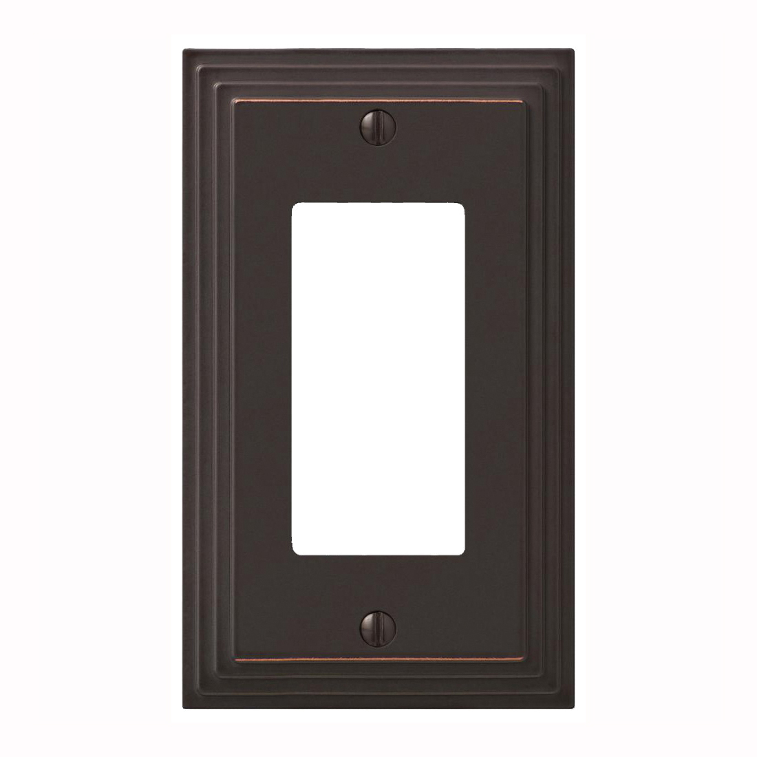 Picture of Amerelle 84RVB Wallplate, 4-15/16 in L, 2-15/16 in W, Aged Bronze