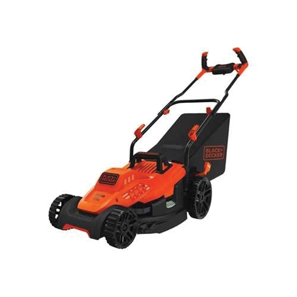 Picture of Black+Decker BEMW472BH Electric Lawn Mower, 10 A, 120 V, 15 in W Cutting, Winged Blade