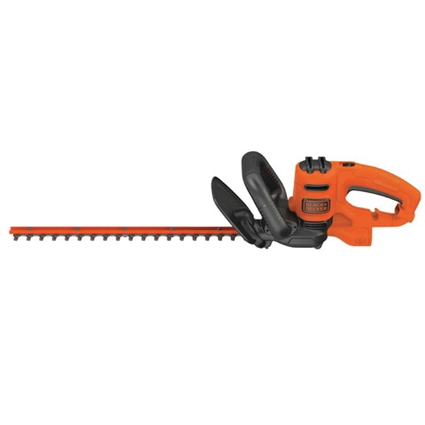 Picture of Black+Decker BEHT200 Electric Hedge Trimmer, 3.5 A, 120 V, 5/8 in Cutting Capacity, 18 in Blade, Wrap-Around Handle