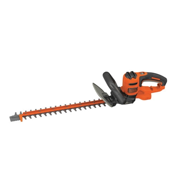 Picture of Black+Decker BEHTS300 Electric Hedge Trimmer, 3.8 A, 120 V, 3/4 in Cutting Capacity, 20 in Blade, Orange