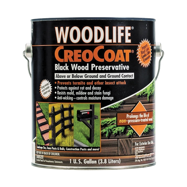 Picture of WOLMAN WoodLife CopperCoat 14436A Wood Preservative, Black, Liquid, 1 gal, Can