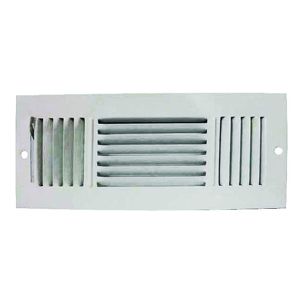 Picture of ProSource SW03-12X4 Sidewall Register, 3-Way, White