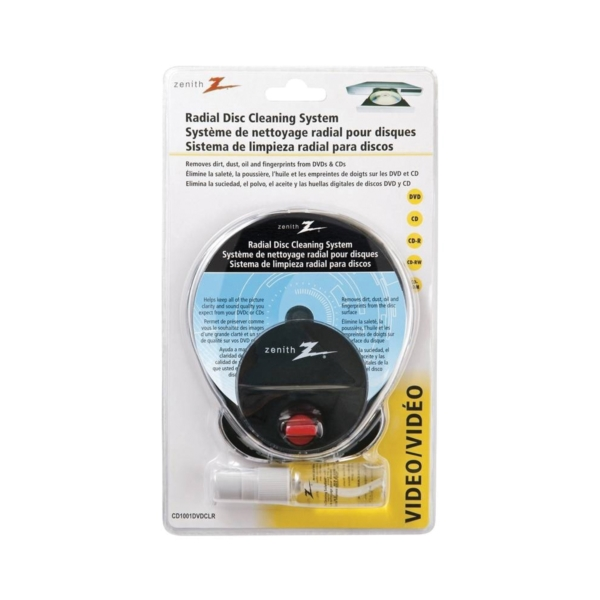 Picture of Zenith CD1001DVDCLR Disc Cleaning System, Radial