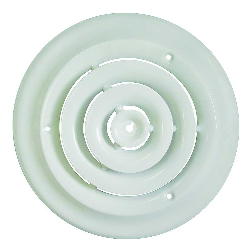 Picture of ProSource SRSD06 Round Ceiling Diffuser, 6 in W, White